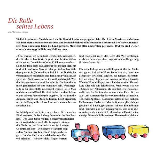 Markus Albert Langer: Die Rolle seines Lebens